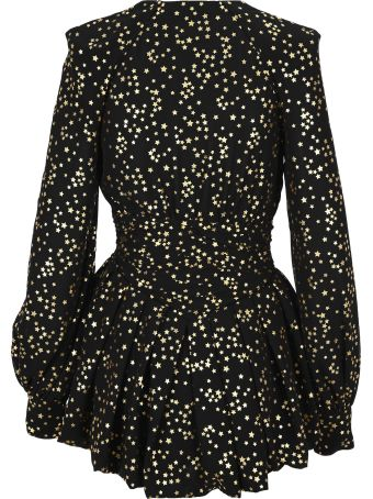 The Attico Attico Gold Stars Mini Dress