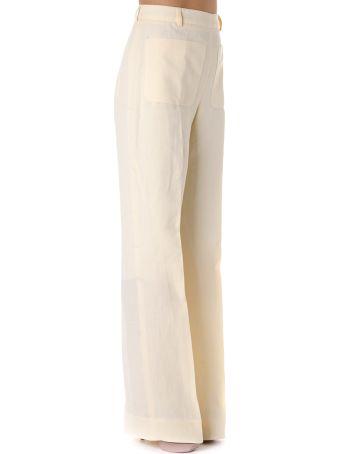 Acne Studios Light Yellow Linen Pants
