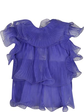 Alberta Ferretti Ruffle Layered Lace Top