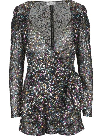 ATTICO The Attico Embellished Wrap Mini Dress