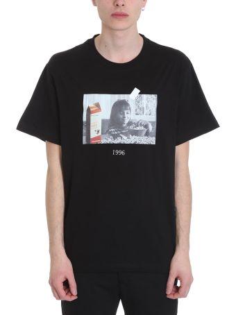 Throw Back Matilda Black Cotton T-shirt