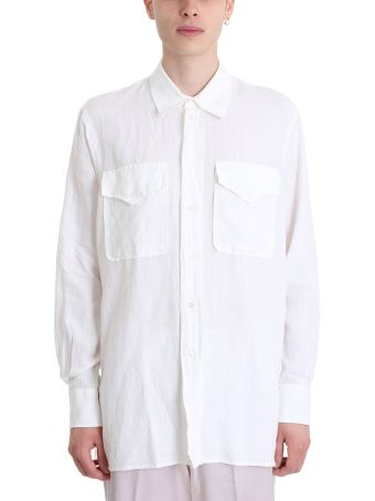 Our Legacy White Line And Cotton Shirt