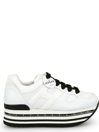 Hogan H413 Oversized White Leather Sneakers