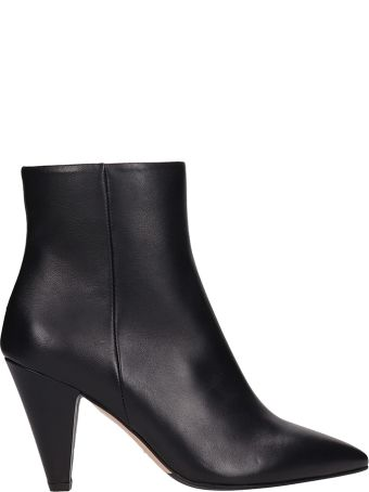 The Seller Black Leather Ankle Boot