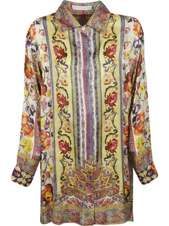 Etro Floral Print Long Shirt