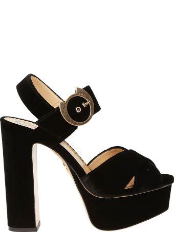 Charlotte Olympia Buckle Platform Sandals