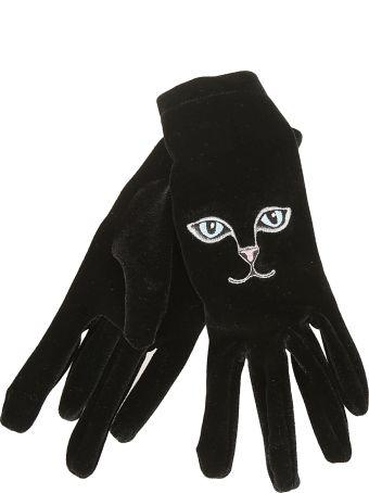 Vivetta Embroidered Cat Gloves