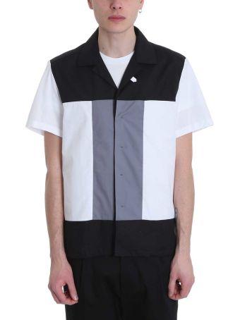 Low Brand White/black/grey Cotton Shirt