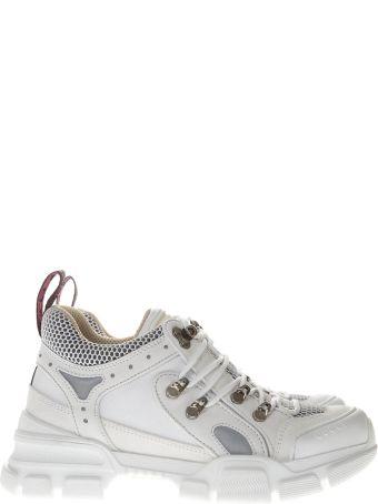 Gucci White Flashtrek Sneakers