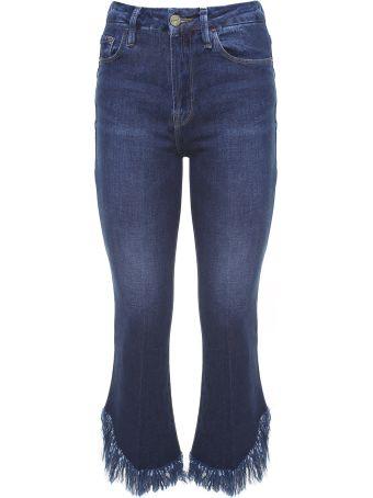 Frame Le Crop Mini Boot Frayed-hem Mid-rise Jeans