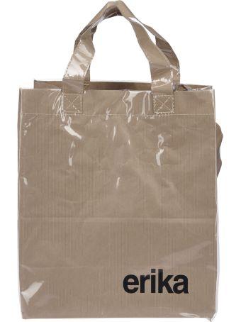 Erika Cavallini Logo Print Shopper Bag