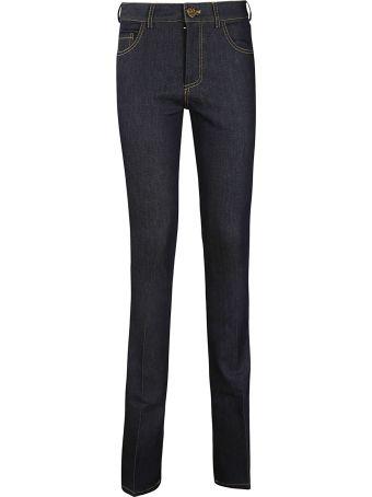 Victoria Beckham Raw Stretch Bootcut Jeans