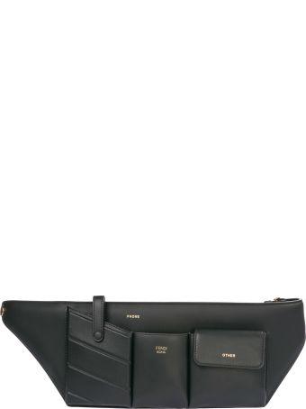 Fendi  Leather Belt Bum Bag Hip Pouch Pockets
