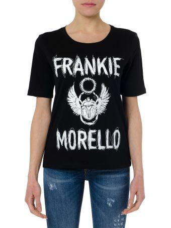 Frankie Morello Black Cotton Frankie Morello   T-shirt