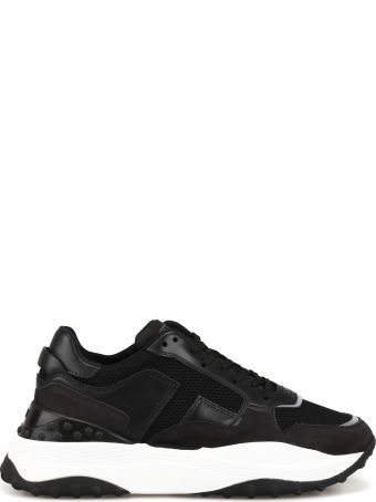 Tod's Leather And Techno Mesh Sneakers Xxw45b0bb50knl74r1