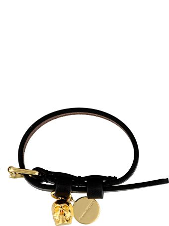 Alexander McQueen Single Wrap Bracelet