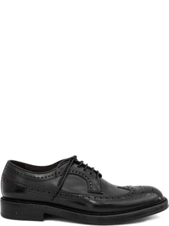 Green George Black Derby Shoes.