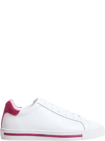 René Caovilla Leather Sneakers