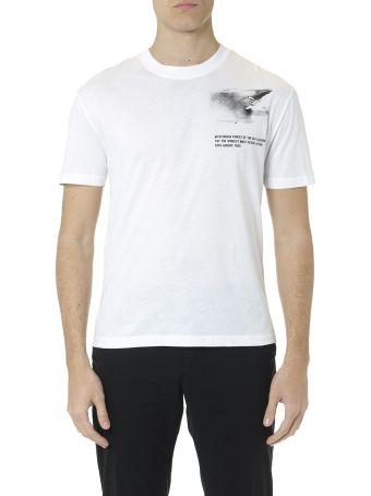 McQ Alexander McQueen White Cotton Mysterious Forces T Shirt