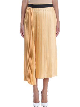 Victoria Victoria Beckham Yellow Pleated Skirt