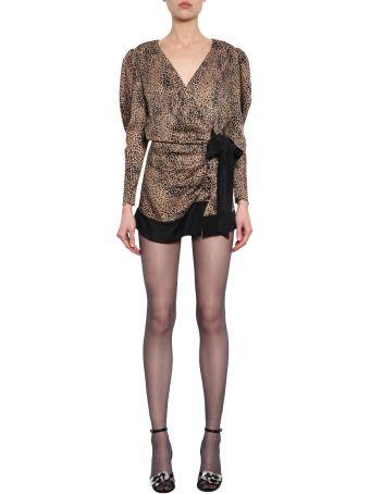 Alessandra Rich Jacquard Silk Dress