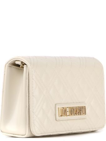 Love Moschino Pvc Ivory Color Quilted Bag