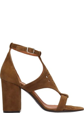 Via Roma 15 Browne Suede Sandals