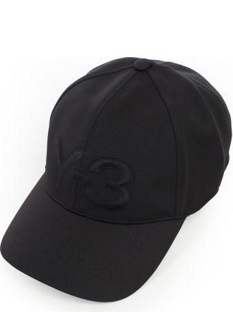 Y-3 Yohji Yamamoto Adidas Brand Embossed Cap