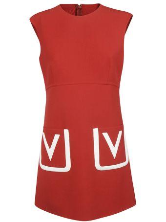 Valentino Inlay V Logo Dress