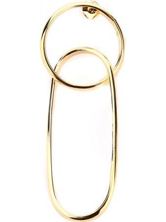 MM6 Maison Margiela Double-hoop Metal Single Earring