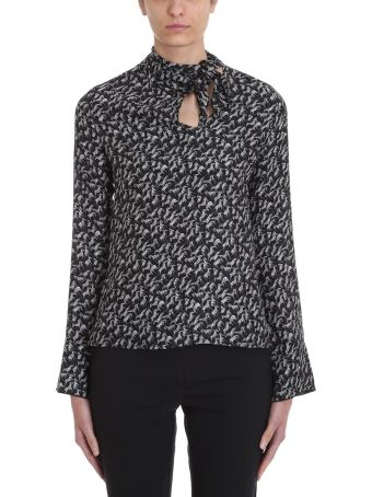 Mauro Grifoni Black White Viscose Bow Blouse
