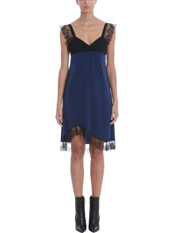 Neil Barrett Blue Black Silk Dress