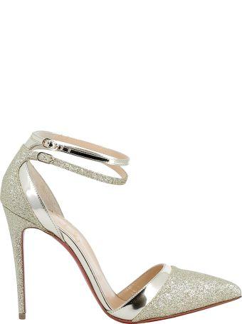 Christian Louboutin Platine/gold Glitter Sandals