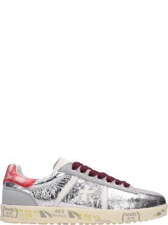 Premiata Silver Leather Andy Sneakers
