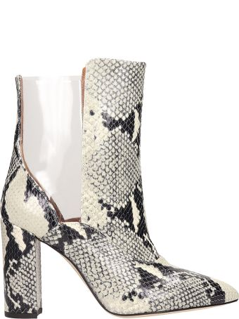 Paris Texas Python Print 100% Calf Leather Ankle Boots