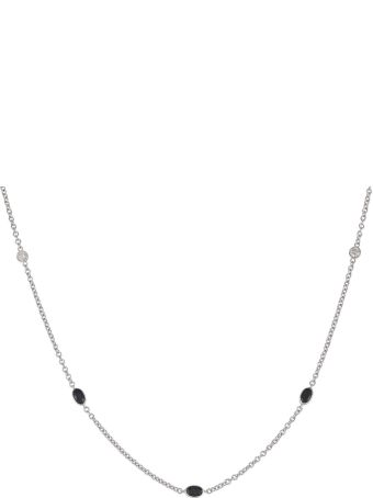Lo Spazio Jewelry Lo Spazio Blue Sapphire and Diamond  Necklace