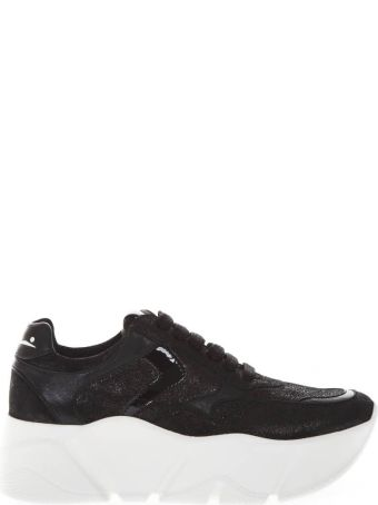 Voile Blanche Monster Black Leather Sneaker