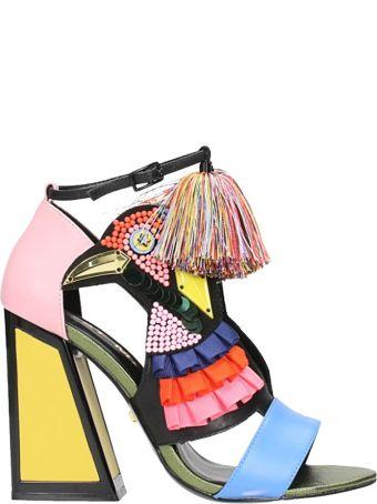 Kat Maconie Aya Sandals In Multicolor Leather