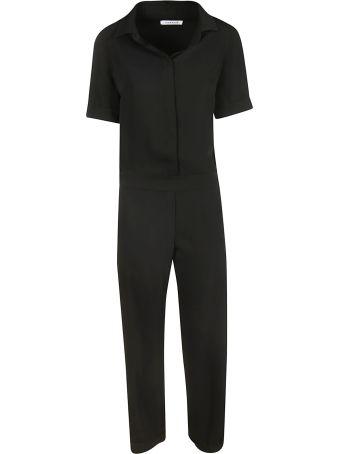 Parosh Classic Short-sleeved Jumpsuit