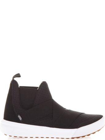 Vans Black Ultrarange Gore Hi Sneakers In Leather & Fabric
