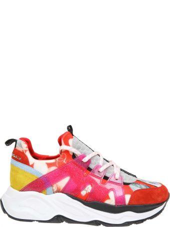 Philipp Plein Sneakers Runner In Neoprene With Floral Printing