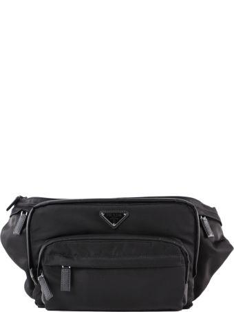 Prada Logo Patched Belt Bag