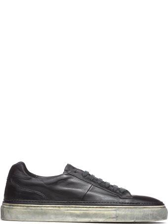 Corvari Black Leather Sneakers