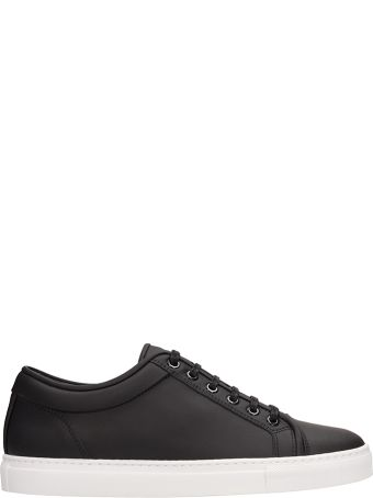 Etq Black Leather Low 1 Sneakers