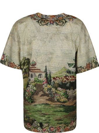 Moschino Logo Floral Chest Print T-shirt