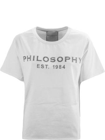 Philosophy di Lorenzo Serafini White Cotton T-shirt