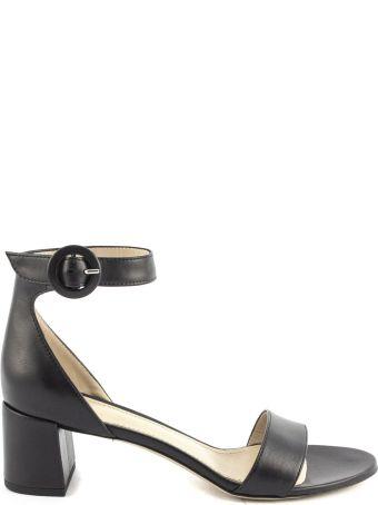 Aldo Castagna Black Leather High-heel Ginevra Sandals