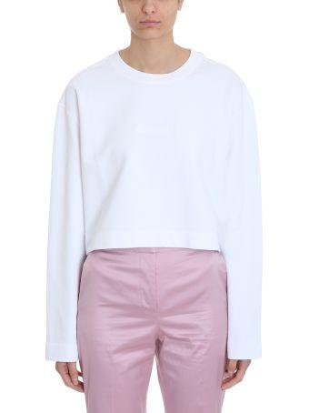 Acne Studios White Cotton Odice Emboss Sweater
