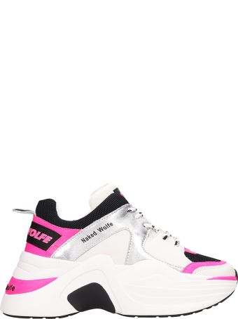 Naked Wolfe Track Sneakers White Leather