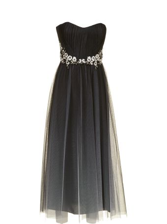 Marchesa Notte Strapless Tulle Dress